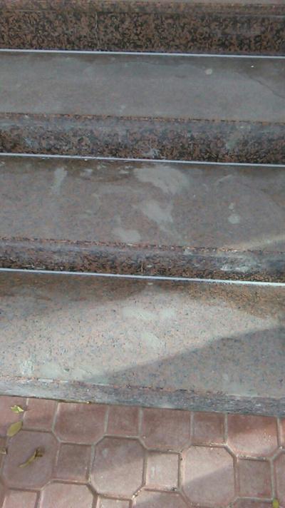 Granitstufen, Spezialreinigung und Langzeitschutz